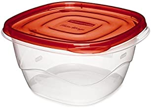 Rubbermaid Take Alongs 8-Piece Deep Square Container Set, Red, 4 piece