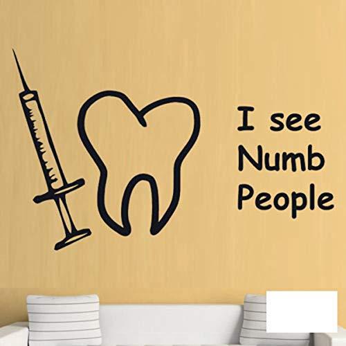 Zahnkleber Zahnarzt Dekal Dekals Poster Vinyl Art Wall Decals Decor Mural Teeth Sticker 56x95cm