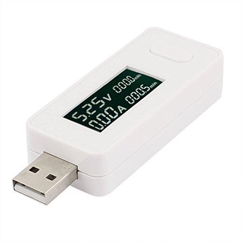 DealMux LCD de la pantalla del PC USB Phone Tester Capacidad del cargador de alimentación Tensión actual