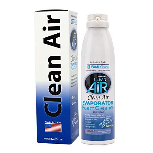 DWD2 Clean AIR Premium Automotive Foaming AC Evaporator Coil Cleaner (unscented) Renew Your air Conditioner! (Single 8.oz)