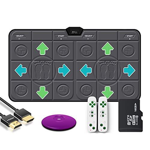 WYH Intéressant 18mmPU sans Fil Double Danse Blanket Computer TV à Double Usage Interface HDMI Accueil somatosensoriel Jeu de Course Dance Machine Sensible (Color : Black)