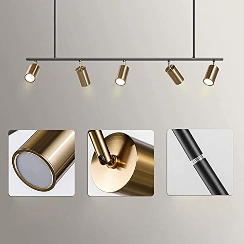 Lámpara colgante LED GU10 lámpara colgante de metal, lámpara de mesa, lámpara de salón, lámpara de salón, cocina, dormitorio, oficina, brillo, 7 cabezas