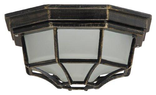 *Milano Außendeckenleuchte leuchtenladen klassisch Metall/Glas antikgold Außenleuchte Deckenlampe Außenlampe E27 100W*