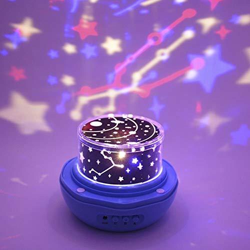 Yang1mn Lámpara De Proyección Rose Star Sky, Proyector Night Light Lámpara De Proyección Estrellada LED Lámpara De Dormitorio For Niños, Lámpara Decorativa, Regalos Del Festival, Lo Mejor For Regalo D
