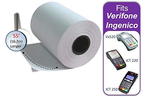 Thermal Paper Rolls 2 1/4 x 55 Verifone Vx520 Ingenico ICT220 ICT250 FD400 (20 rolls)
