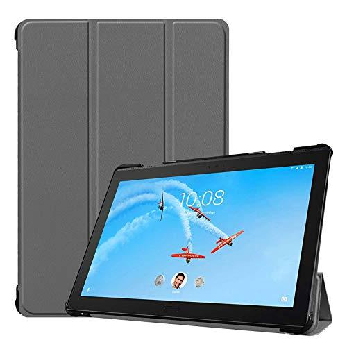 Hülle für Lenovo Tab P10 TB-X705F 10.1 Zoll Schutzhülle Tasche mit Standfunktion & Auto Sleep/Wake Funktion Grau