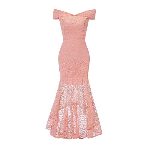 Btruely Kleid Damen Trägerlos Hochzeitskleid Meerjungfrau Formelle Partykleid Slim Fit...