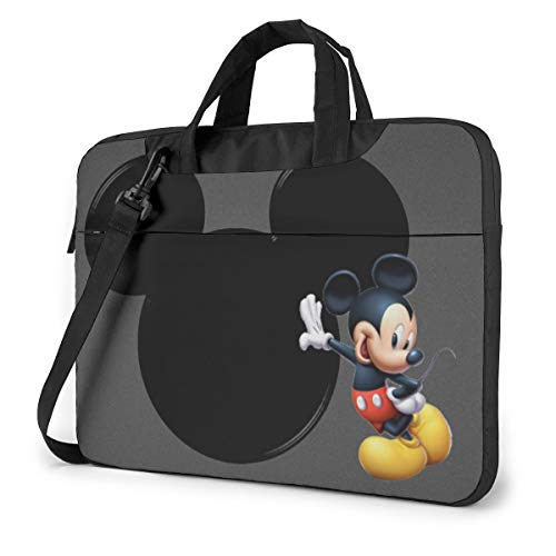 15.6 Inch Laptop Bag Lovely Mickey Mouse Laptop Briefcase Shoulder Messenger Bag Case Sleeve