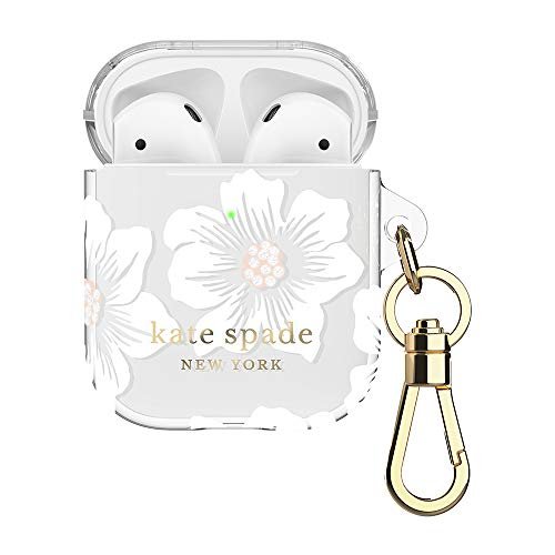 kate spade new york Hollyhock Case for AirPods 2 & 1 - Protective Wireless Charging Cover with Keychain (Front LED Visible)