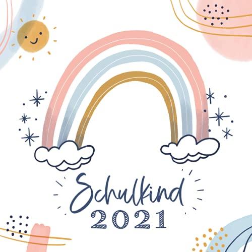 Schulkind 2021: Kreatives Erinnerungsalbum & Gästebuch zur Einschulung & zum ersten Schultag /...