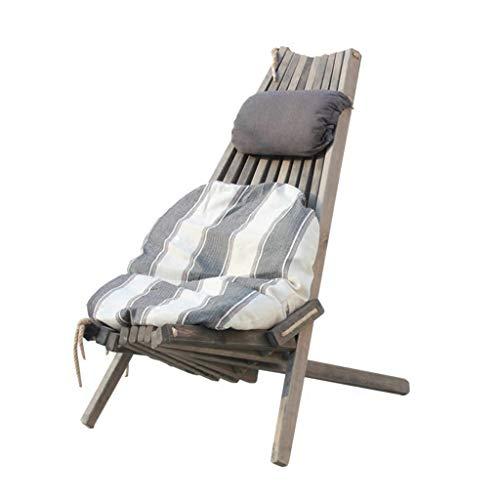 WFH Mecedora plegable informal elegante de lujo con almohadas y cojines Camping Bbq Balcón Dormitorio Jardín Peso 150Kg