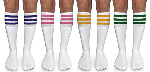 Jefferies Socks unisex child Knee High Casual Sock, Rainbow Assorted,...