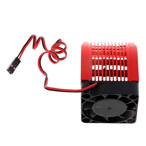 chiwanji 4274/4268 Disipador de Calor del Motor con Ventilador de 40 Mm para Coche Modelo RC 1: 8