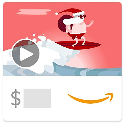Amazon eGift Card - Surfin Santa (Animated)
