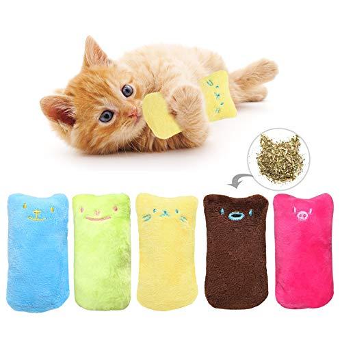 HORYDIA Giocattolo per Gatti in Catnip Interattivi Giocattolo della Peluche Giocattolo da Masticare Bastoncini per Gatti Adatto a Pulizia Denti Gatto per Tutti i Gatti e Gattini.