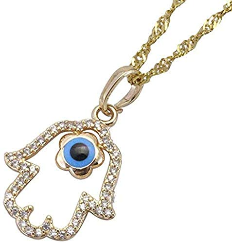 LBBYMX Co.,ltd Collar Collar Turco con Colgante de Mano de Vidrio para Mujeres y Hombres Joyas de Regalo con Cadena Collar de 60 cm