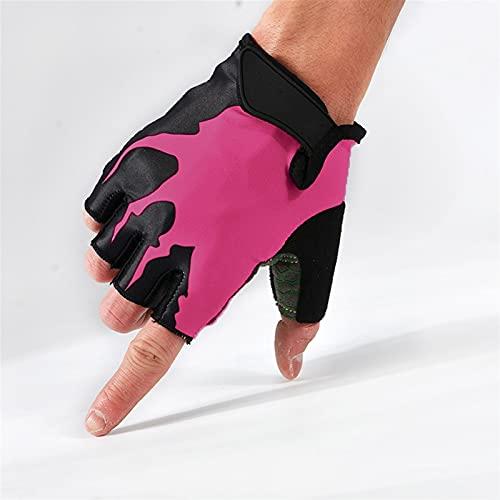 Verano a prueba de golpes guantes de ciclismo medio dedo al aire...