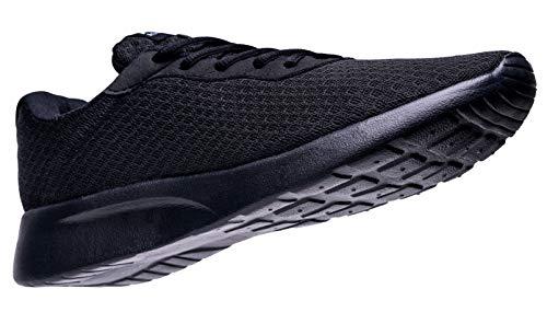 AONVOGE Laufschuhe Herren Schuhe Outdoor Walkingschuhe Straßenlaufschuhe Tennis Turnschuhe Sneaker Joggingschuhe Fitness Leichtgewichts Sportschuhe, Schwarz 46 EU