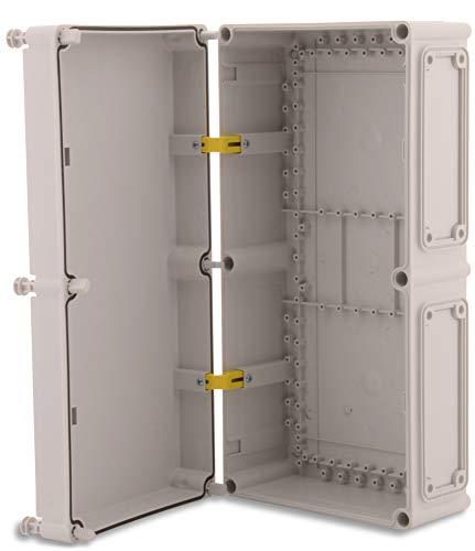BOXEXPERT Schaltschrank Kunststoff-Gehäuse Serie Perle 540x270x160mm mit Innenscharnier IP 67 lichtgrau RAL7035 Wandgehäuse Box