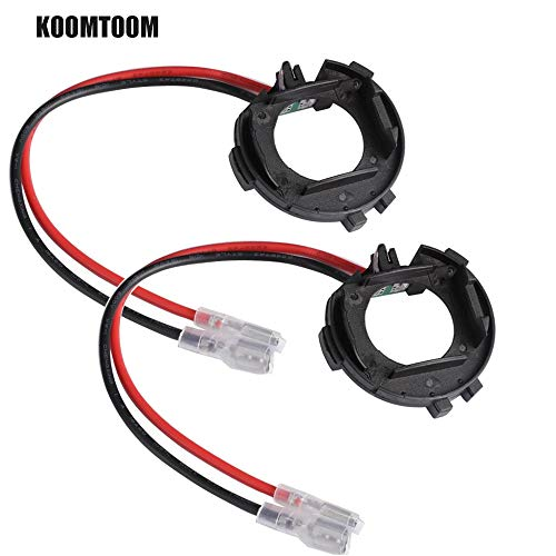 KOOMTOOM 2 pièces H7 LED douille de lampe adaptateur de Base support de support Clips de montage pour VW Golf 7/2013 Passat