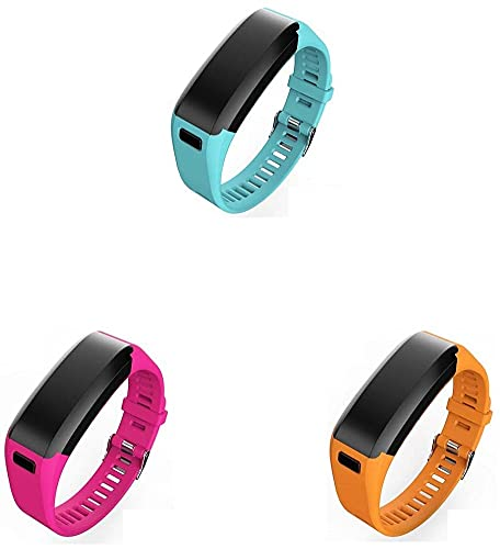 Gransho Correa de Reloj Compatible con Garmin Vivosmart HR, Silicona Banda de Reemplazo Pulsera (3-Pack I)