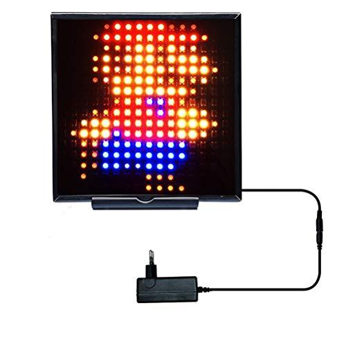 WUHUAROU Tira de LED Lámpara de luz de píxel Matriz Kit de WiFi Reloj Inteligente Lámpara de Matriz 16x16 WS2812B Lámpara de luz de píxel direccionable RGB (Size : 16x16 Kit)
