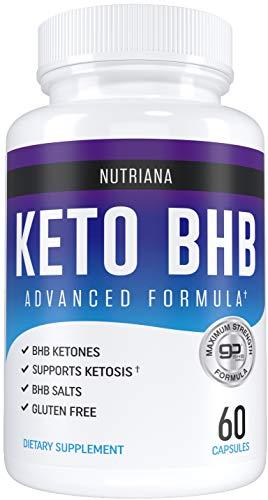 Nutriana Keto Pills - Ketogenic Keto Pills for Women and Men - Keto Supplement BHB Salts - Ketosis Keto Supplement Exogenous Ketones - Keto Pills 60 Capsules