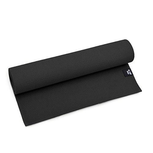 zenpower Yogamatte - We Love Yoga - 180cm, 6mm dick - rutschfest & leicht, Schwarz
