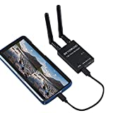 SoloGood FPV Receiver 5.8G OTG 150CH Video Downlink Receiver Double Antenna for Android Phone PC Monitor(Black)