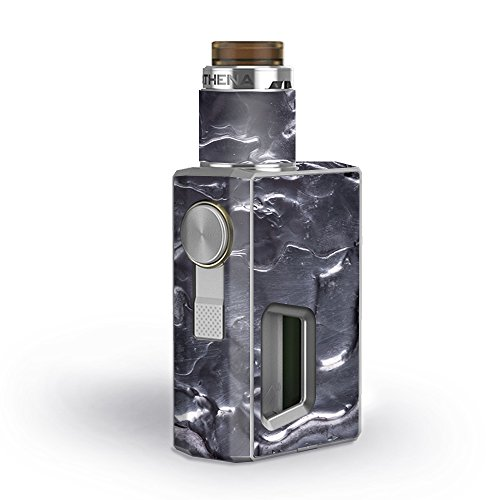 Skin Decal Vinyl Wrap for GeekVape Athena Squonk Kit Vape Kit skins stickers cover / Melting Metal Molten Liquid