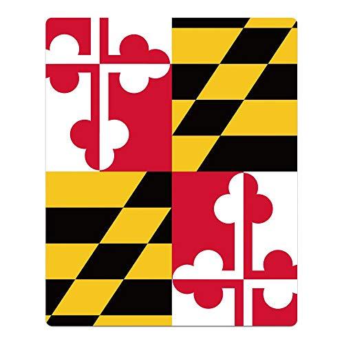 Mesllings Toalla de Ducha Absorbente, diseño de la Bandera de Maryland Calaberas