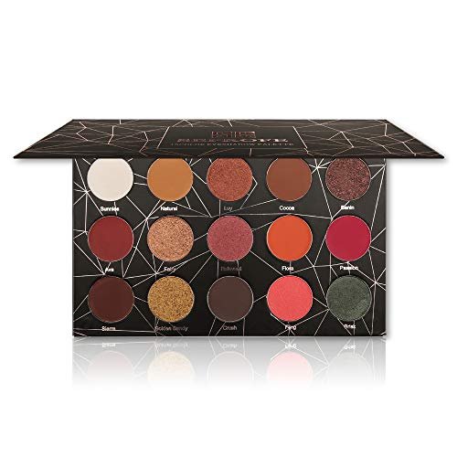SEPROFE Lidschatten-Palette Nude Make-up-Palette Smoky Eye Shimmer Matt Lidschatten Glitter...