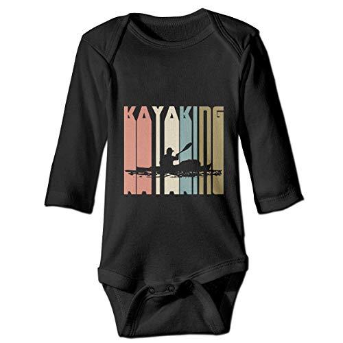 IUBBKI Retro Kajak Kajak Baby Baby Langarm Bodysuit Kleinkind Crawl Playsuit Strampler