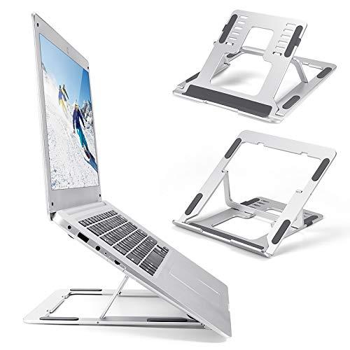 Whuooad Soporte para Ordenador portátil, Soporte ergonómico de Aluminio para Ordenador, Soporte de Escritorio Ajustable y ventilado para 10-17.3 Pulgadas