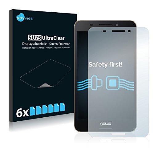 Savvies 6X Schutzfolie kompatibel mit Asus FonePad 7 FE375CL Bildschirmschutz-Folie Ultra-transparent