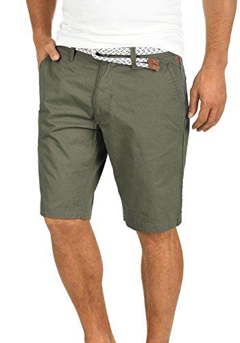 Blend Ragna Herren Chino Shorts Bermuda Kurze Hose Mit Kordel-Gürtel Aus 100% Baumwolle Regular Fit, Größe:L, Farbe:Dusty Green (70595)