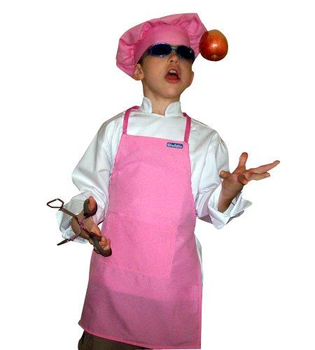CHEFSKIN Lot of 25 Pink Lightweight Apron Kids Children 2-7 Yr 15x21 Fabric