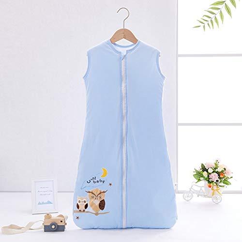 YZNlife Frühlingschlafsack Baby Schlafsack Kleine Kinder Schlafanzug ohne Ärmel für Frühling und Herbst 100% Baumwolle,Eule,130