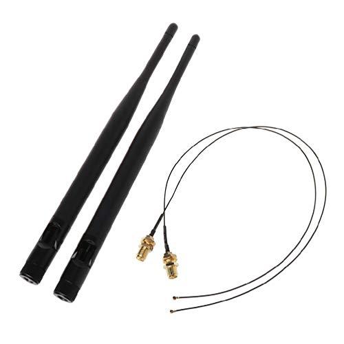 Sara-u - Juego de cables de señal de antena WiFi para Intel AC 9260 9560 8265 8260 7265 7265 7265 7260 NGFF- M.2