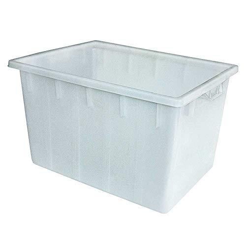 Kunststoffwanne/Wanne 170 Liter, LxBxH 800x600x490 mm, PE-HD Kunststoff, weiß, lebensmittelecht