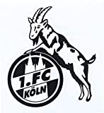 STICKER AUFKLEBER transparent (schwarz) 1. FC KÖLN
