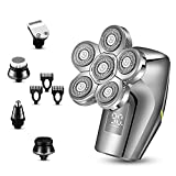 Roziaplus Electric Razors for Men- Upgrade 5 in1 Bald Head Shaver - LED Display Electric Shavers for...