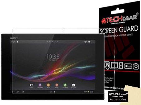 Techgear - Protector de pantalla con gamuza para tableta Xperia Z (3 unidades, 25,6 cm)