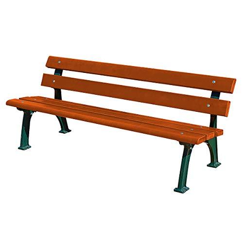 Parkbank mit Gussgestell – Sitz- und Rückenfläche Fichtenholz – gerade – Bank aus Holz, Metall, Kunststoff Gartenbank Holzbank Parkbank Ruhebank Sitzbank Bank aus Holz, Metall, Kunststoff Bänke aus Holz, Metall, Kunststoff - 5