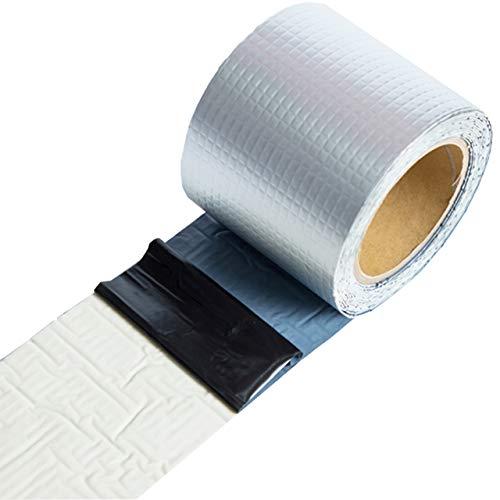 ヒロワールドトレード ブチルテープ 超強力 粘着テープ 屋外 補修 テープ 亀裂 ひび割れ シーラント 屋根補修 (10cm幅5m)
