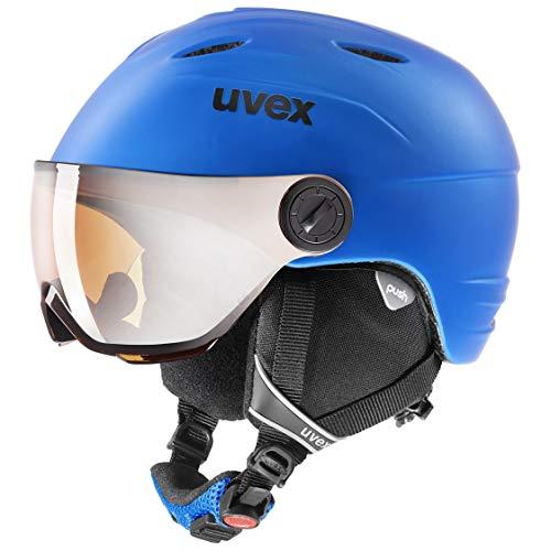 uvex Unisex Jugend junior Visor pro Skihelm, Blue, 54-56 cm