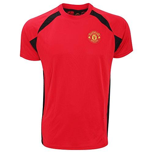 Manchester United FC - Camiseta Oficial de Manga Corta con el Escudo...