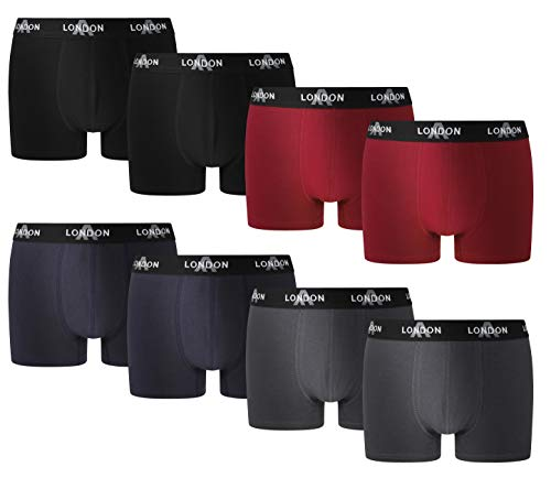 FM London Heren Fitted Boxer Hipsters (Pack van 8)