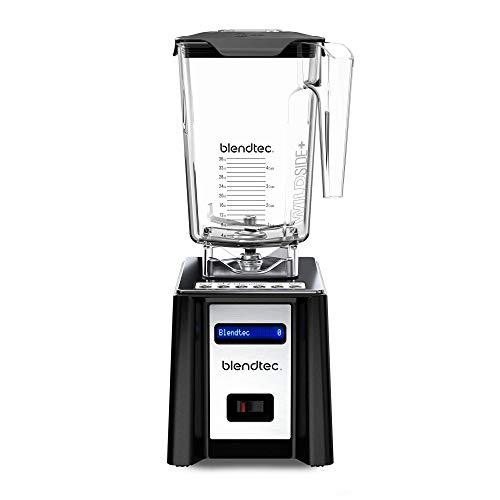 Blendtec Professional 750 Blender with Wildside+ Jar (90 oz), Built-in Countertop or Tabletop Blender, Professional-Grade Power, Self-Cleaning, 6 Pre-programmed Cycles, 10-Speeds, Retro Design, Black