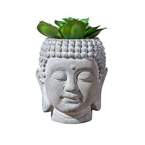 "Mini Artificial Plants Artificial Succulent Pots Buddha Head Include Plants 4.3 ""Home Office Bathroom Decoration"